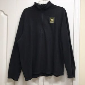 The North face black jacket us army sign